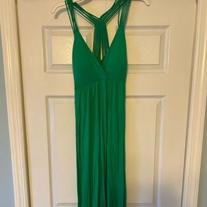 Green Maxi Dress with a strappy back